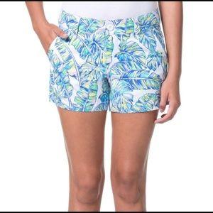 Tori Richard Sadie Palm Print Beach Shorts